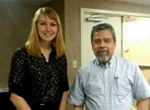 Holly with Javier F. Becerra in Tucson, Arizona during a legal translation workshop.